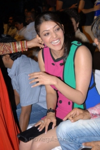 Beautiful Kajal in Hot Colorful Skirt