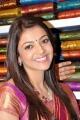 Actress Kajal Agarwal Stills at Kalamandir Showroom Hanamkonda, Warangal