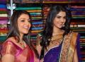 Kajal & Deeksha at Kalamandir Hanamkonda Store Launch Photos
