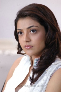Beautiful Kajal in White Churidar Cute Stills
