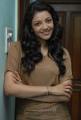 Actress Kajal in Light Brown T Shirt Photoshoot Pics
