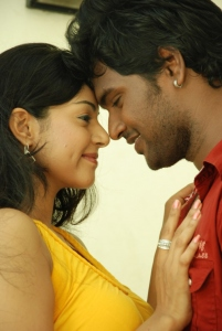 Sanam Shetty, Ajay in Kalaivendhan Tamil Movie Stills