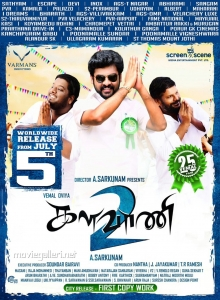 RJ Vigneshkanth, Vimal, Ganja Karuppu in Kalavani 2 Movie Release Posters