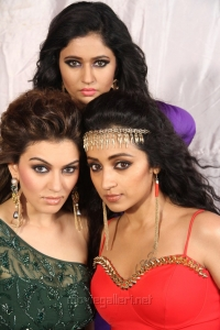 Trisha Krishnan, Hansika Motwani, Poonam Bajwa in Kalavathi Movie Stills