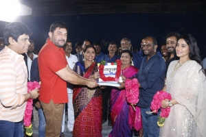 Aravind Swamy, Saranya Ponvannan, Rajapandi, Regina @ Kallapart Movie Pooja Stills