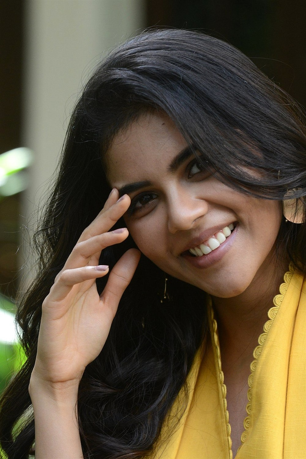 Telugu Actress Kalyani Priyadarshan Pics @ Ranarangam Interview