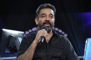 Actor Kamal Haasan at Neengalum Vellalam Oru Kodi Show Photos
