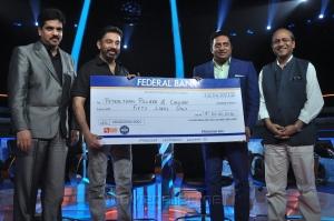 Kamal Haasan at Neengalum Vellalam Oru Kodi (NVOK) Show Photos