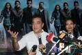 Kamal Haasan and Pooja Kumar at the Vishwaroopam Press conference