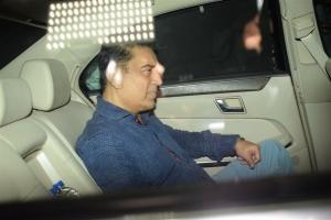 Kamal Haasan @ Sridevi Death Celebs visit Anil Kapoor House Stills