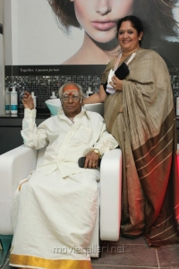 M.S.Viswanathan with daughter Lata Mohan @ 4th Bounce Style Lounge Photos