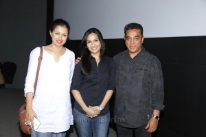 Kamal, Gauthami, Soundarya Rajinikanth @ Kochadaiyaan Premiere Show Photos