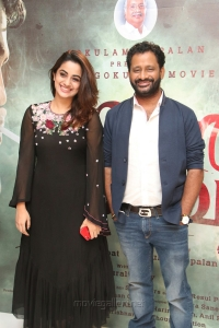 Namitha Pramod, Resul Pookutty @ Kammara Sambhavam Movie Premiere Show Photos