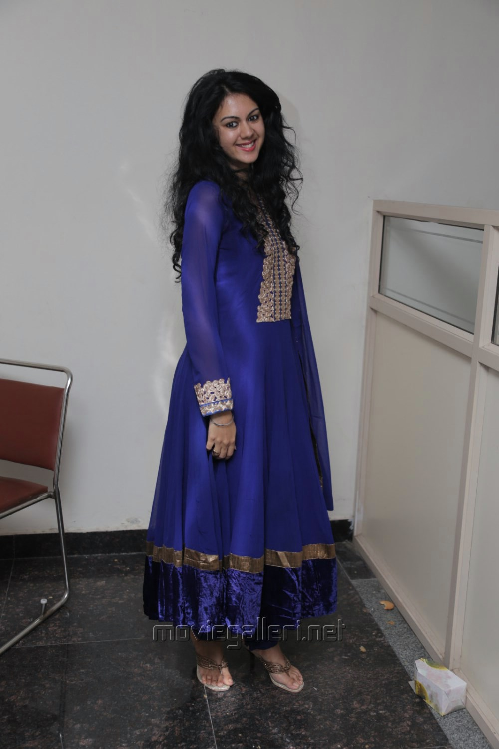Actress Kamna Jethmalani Stills in Dark Blue Salwar Kameez