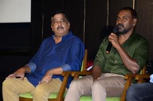 Sudhakar Reddy, Raghava Lawrence, Tagore Madhu @ Kanchana 3 Movie Trailer Launch Stills