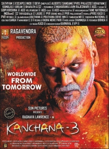 Raghava Lawrence's Kanchana 3 Movie Release from Tomorrow Posters