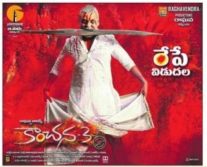 Raghava Lawrence's Kanchana 3 Movie Tomorrow Release Posters