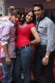 Vishal, Zita Mariya, Kathik Kattac at Kandanam Movie Launch Photos