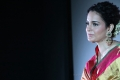 Actress Kangana Ranaut Silk Saree Stills @ Manikarnika Movie Press Meet