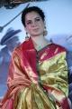 Actress Kangana Ranaut in Silk Saree Stills @ Manikarnika Press Meet