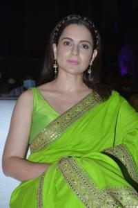 Actress Kangana Ranaut Saree Pictures @ Thalaivi Pre Release Event