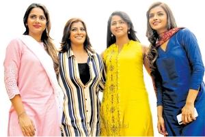 Aishwarya Dutta, Varalaxmi, Subhiksha, Ashna Zaveri in Kannitheevu Movie Photos