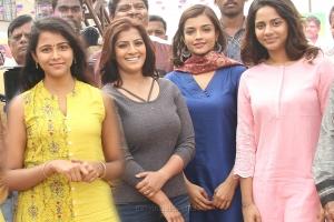 Subhiksha, Varalaxmi, Ashna Zaveri, Aishwarya Dutta in Kannitheevu Movie Photos