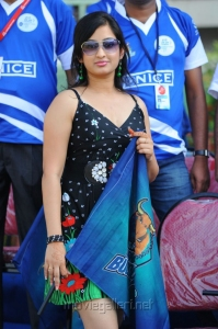 Actress Spoorthi Hot Pics in CCL 2012 Match