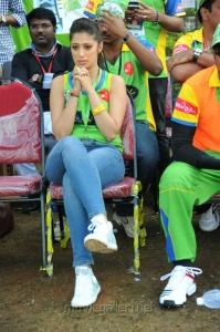 Lakshmi Rai @ Karnataka Bulldozers Vs Kerala Strikers CCL Match Stills