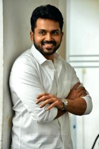 Chinna Babu Hero Karthi Interview Photos