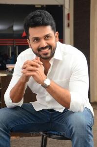 Chinnababu Hero Karthi Interview Photos