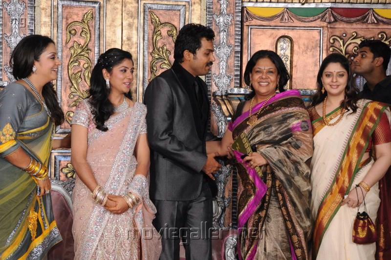 Jyothika Nagma Karthi Ranjani Wedding Reception Photos