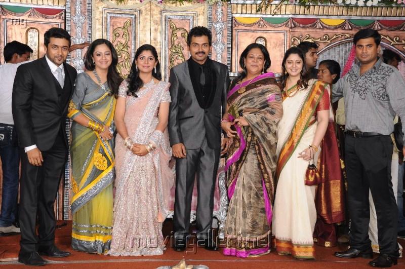 Suriya Jyothika Nagma Karthi Ranjani Wedding Reception Photos