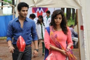 Nikhil, Swathi in Karthikeya Telugu Movie Stills