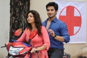 Swathi, Nikhil in Karthikeya Telugu Movie Stills