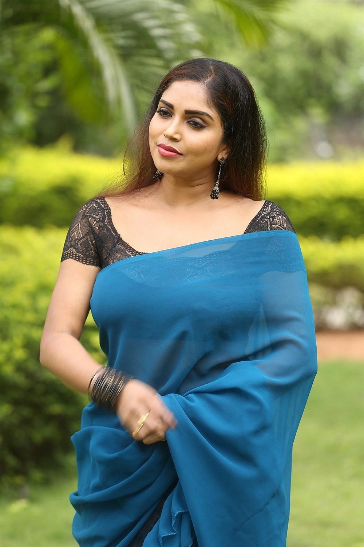 Telugu Actress Karunya Chowdary Photos at 3 Monkeys Movie First Look Logo Launch