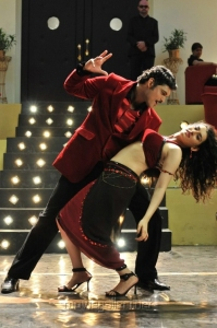 Ajmal Ameer, Archana Veda in Karuppampatti Movie Stills