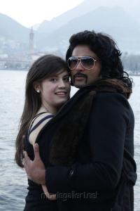 Alice Tantardini, Ajmal Ameer in Karuppampatti Tamil Movie Stills