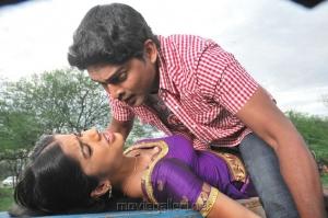 Aparna Bajpai, Ajmal Ameer in Karuppampatti Tamil Movie Stills