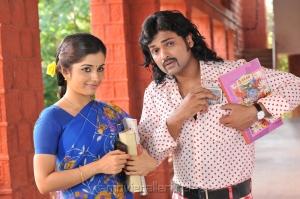 Aparna Bajpai, Ajmal Ameer in Karuppampatti Movie Stills