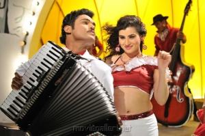 Ajmal Ameer, Archana in Karuppampatti Tamil Movie Stills