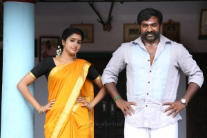 Tanya, Vijay Sethupathi in Karuppan Movie HD Images