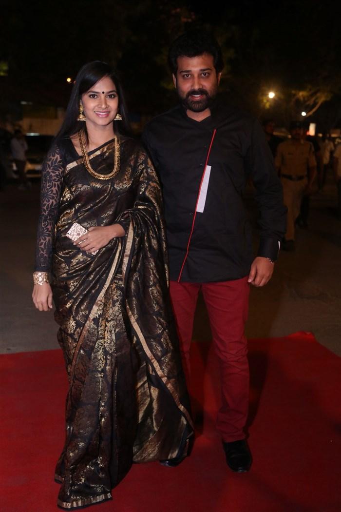 Madhumitha, Siva Balaji @ Katamarayudu Pre Release Function Stills