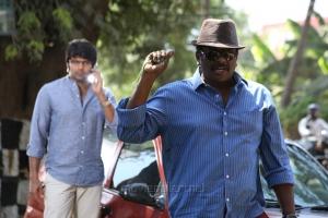 Arya, Parthiban @ Kathai Thiraikathai Vasanam Iyakkam Movie Working Stills