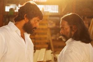 Kishore & Master Rajanayagam in Kadhir Tamil Movie Stills