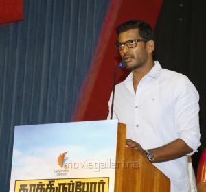 Actor Vishal @ Kathiruppor Pattiyal Press Meet Stills