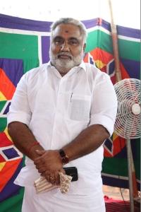 Gnanavel father Easwaran @ Katteri Movie Pooja Stills