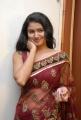 Telugu Actress Kousalya in Red Transparent Saree Hot Pics