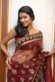 ute Actress Kausalya Hot Photos in Red Transparent Saree