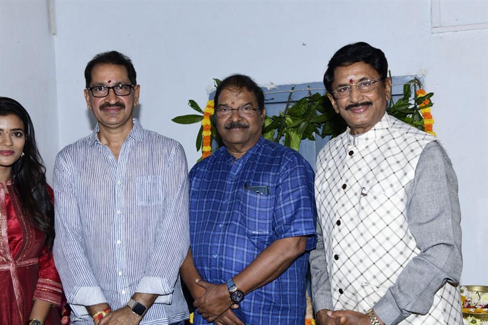 Bhimaneni Srinivasa Rao, KS Rama Rao, Murali Mohan @ Kausalya Krishnamurthy Cricketer Movie Opening Stills